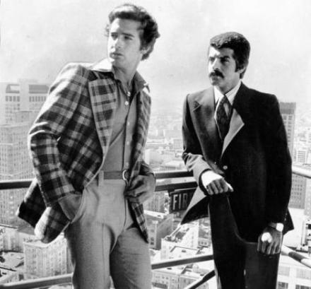 Two models pose on a fire escape overlooking San Francisco.July 22, 1974. Morgue01